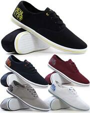 Mens Casual Canvas Espadrilles Plimsolls Trainers Pumps Deck Beach Shoes Size