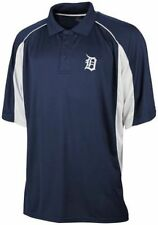 Detroit Tigers Majestic Embroidered Navy Blue Dri-Fit Polo Golf Shirt