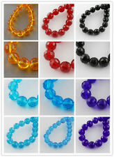 1Strand Jewelry Beading Faceted Transparent Glass Round Bead Strands