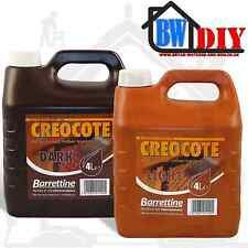 Barrettine Creocote - 4 Litres - Light or Dark - Oil-Based Creosote Substitute