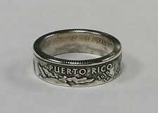 PUERTO RICO SILVER US STATE QUARTER handmade coin ring or pendant size 4-11