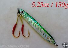 Knife Jigs 5.25oz /150g Green Vertical Butterfly Fishing Lures -Choose Pieces