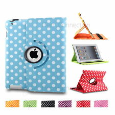 Dot Leather Rotating Case w/ Pen and Screen Protector fits iPad 2nd 3rd 4th Gen