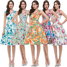 CHEAP~Vintage Style Swing 60s 50s Rockabilly Pinup Prom Tea Housewife Dress Gown