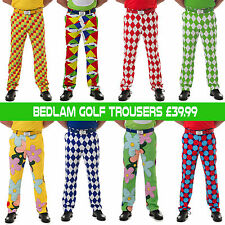 LOUD AND FUNKY GOLF TROUSERS-BEDLAM GOLF-6 STYLES, SIZES 28-38 WAIST