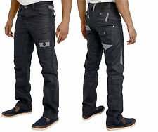 MENS BNWT ETO JEANS  STYLISH FUNKY BLACK-COATED STRAIGHT LEG JEANS BARGAIN