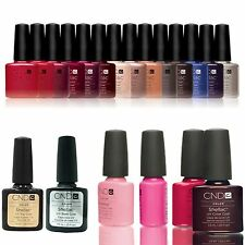 CND Shellac UV Gel Nail Polish-un sacco di Colori Rivestimento Di Base & Top Coat Immersione OFF