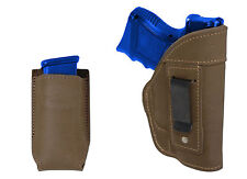 NEW Barsony Olive Drab Leather IWB Gun Holster + Mag Pouch Glock Compact 9mm 40
