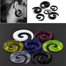 Pair Acrylic Snail Spiral Tapers Flesh Tunnel Ear Stretcher Expander  Ear plugs