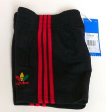 Adidas Infants Shorts UK 3-6 Month to 2-3 Yrs 3 Striped Jersey, Black