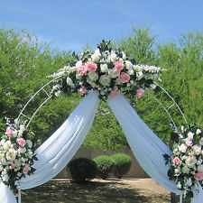 7.5ft White Metal Arch Wedding Garden Bridal Party Decoration Prom Flower Sturdy