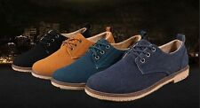 2015 Suede European style leather Shoes Mens oxfords Casual Multi Size free ship