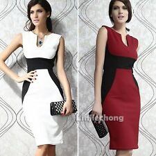 Sexy Women Sleeveless Bodycon Pencil Business Office Work Cocktail Party Dress
