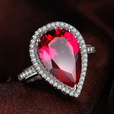 JewelryPalace 7ct Fashion Women Pigeon Blood Ruby Ring 925 Sterling Silver