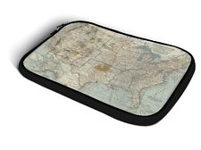 Antique United States Map iPad Neoprene Zipper Case fits Apple iPad 2 3 4 Air 1