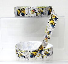 """Despicable Me Minions Grosgrain Ribbon 25mm 1"""" wide 1, 2 or 5 metres"""
