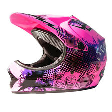 Youth Motocross Helmet - Kids sizes, PINK, XS S M L XL Aust Std, Dirt bike Quad
