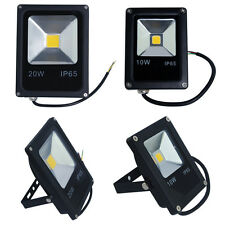 Slim 10W 20W LED Flood Light IP65 Outdoor Indoor Garden Wash Security Lamp Black
