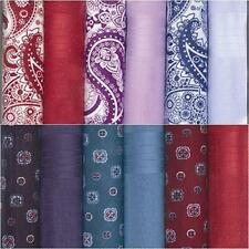 BOX OF 6 MENS PAISLEY OR PATTERNED HANDKERCHIEFS 100% COTTON CHOICE OF 2 STYLES