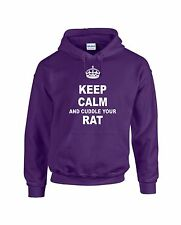 KEEP CALM AND CUDDLE YOUR RAT HOODIE HOODY ADULT & KID'S SIZES 12 COLOURS