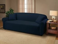 NAVY BLUE JERSEY SOFA STRETCH SLIPCOVER, COUCH COVER, CHAIR LOVESEAT SOFA