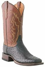 Lucchese M1612 TWF Mens Black Full Quill Ostrich Leather Western Cowboy Boots