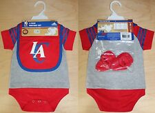 Los Angeles Clippers INFANT adidas 3-piece Bodysuit Set