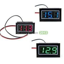 Red Green Blue LED Panel Meter Mini Digital Voltmeter DC0V To 100V Waterproof