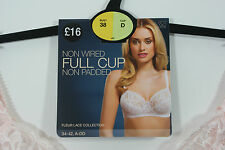 NEW MARKS AND SPENCER NON WIRED FULL CUP BRA NON PADDED