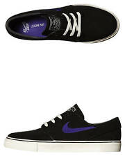 NIKE SB NIKE SB ZOOM STEFAN JANOSKI CANVAS SHOE BLACK COURT PURPLE Free Post