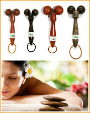 THAI MASSAGE STICK ROLLER BALL Wooden Massager Wood Full Body Therapy Healthy