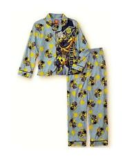 Boys TRANSFORMERS BUMBLEBEE Flannel Pajamas size 4/5 8 Shirt Pant PJs NWT coat