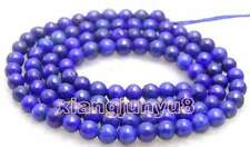 "SALE 6mm Round Blue natural lapis lazuli loose beads loose strand 15""-los628"