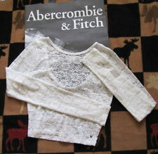 NWT ABERCROMBIE & FITCH LACE LONG SLEEVE TOP - SIZE SMALL OR MEDIUM