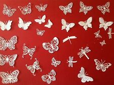 30 différentes découpe MEMORY BOX Tattered Lace Swirly papillons, libellules