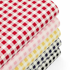 Cotton Fabric per FQ Classic London Gingham Plaid Check Retro Printed Quilt VK71