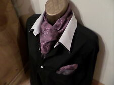 MENS JACQUARD CRAVAT/SCARF AND MATCHING HANKERCHIEF