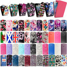 Printed Leather Card Magnetic Flip Case Cover Pouch For Various Mobile Phones