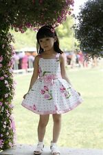 Brand New Girls Dress Wedding Pageant Kids Boutique Cotton size 2-12Y B1