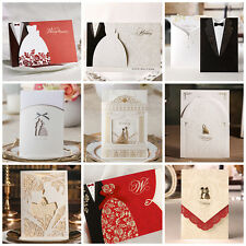 Sweet Bride and Groom Theme Wedding Invitations Cards With Envelopes and Seals