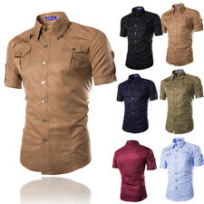 2015 Mens Casual POLO Shirt Slim Fit Cotton T-shirt Short Sleeve Muscle Top Tee