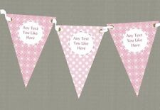 Two Tone Pink Pattern Personalised Children's Birthday Party Bunting
