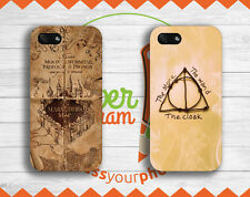 """""""Deathly Hallows"""" & """"Marauder's Map"""" Cover Smartphone Harry Potter Iphone Case"""