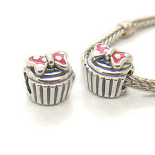 New Authentic Genuine S925 Silver Minnie CUPCAKE  BOX INCLUDE CHARM Bead