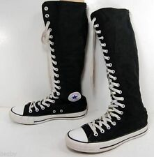 NEW~CONVERSE ALL STARS CHUCK TAYLOR BLACK X HI TOP SNEAKERS~SIZE 6, 6.5, 7