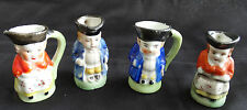 Toby Mugs Japan Four Miniature Red and Blue Full body