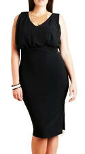 Women Black Party Pencil Skirt Dress Size 10 12 14 16 18 20 22 24 NEW Plus size