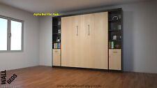Wall Bed - Alpha Flat Pack (with x 2 side shelves) - Murphy Bed