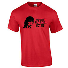 Rambo T Shirt They Drew First Blood Rambo Movie T-Shirt Sylvester Stallone Tee