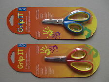 Childrens long loop soft grip scissors left or right handed
